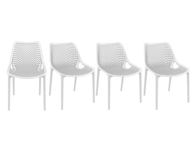 White Modern Chair LUCY (set of 4)