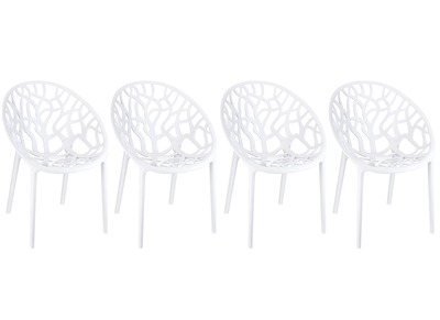 White Modern Chairs ARBOL (set of 4)