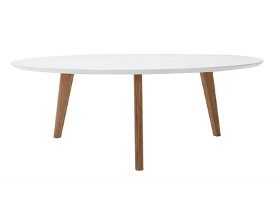 White Modern Round Coffee Table 100cm EKKA