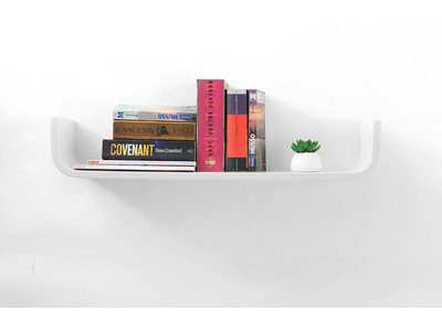 White Modern Wall Shelf MAYA