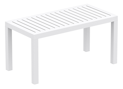 White Resin Coffee Table (90x45 cm) MARYSS