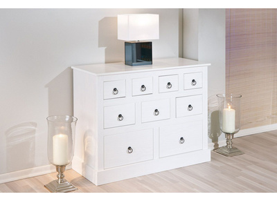 White Solid Pine Modern Chest of Drawers CAMBRIDGE