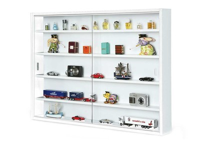 White Wall Display Case for Models BARI