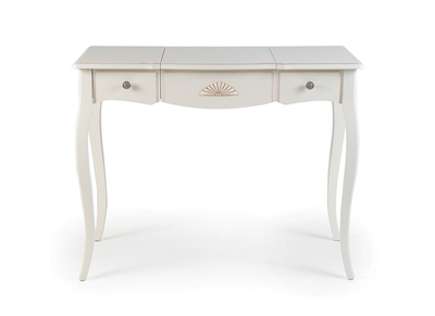 White Wood Baroque Dressing Table BIANCA