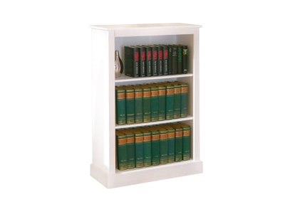 WhiteSolid Pine Modern Small Bookcase CAMBRIDGE