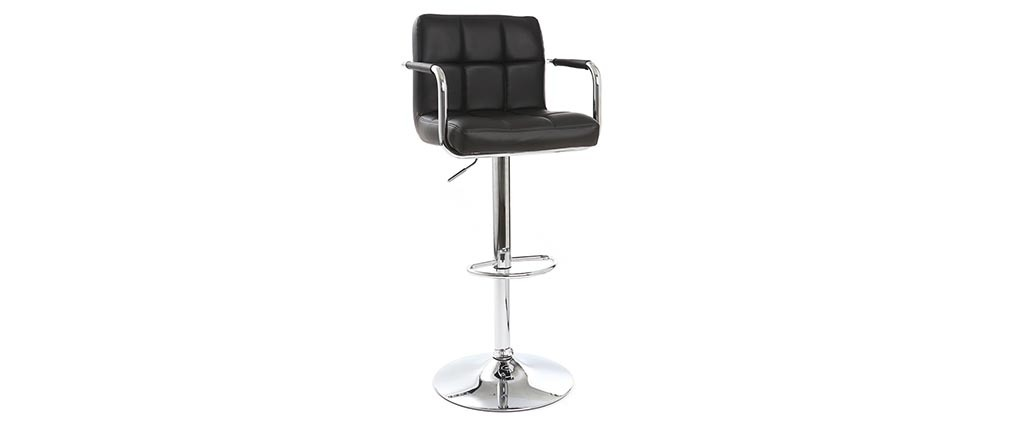 WILLORD set of 2 black designer bar stools