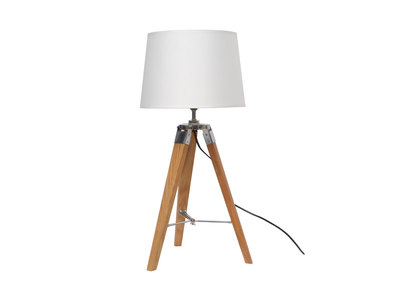 WILLOW H65cm Scandinavian natural and ash table lamp