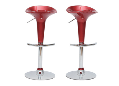 Wine Red Modern Bar/ Kitchen Stool GALAXY (set of 2)