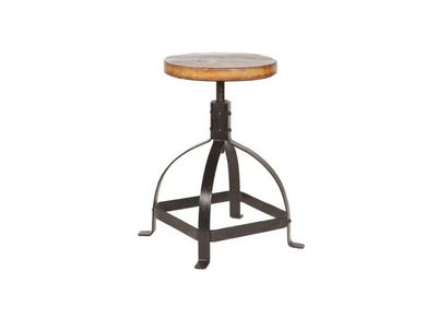 Wood and Metal Stool INDUSTRIA
