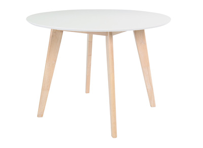 Wood and White Modern Table LEENA
