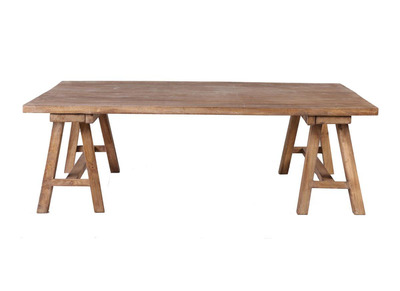 Wood Industrial Coffee Table ANTIQUA