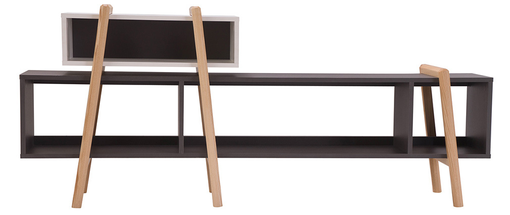 WOOD TANG Modern TV Stand Composition 6