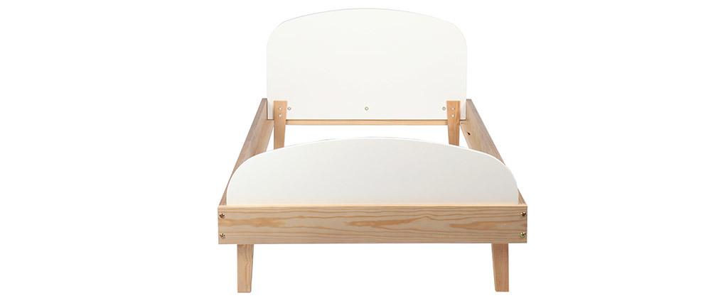 Wooden and white kids bed KUNG