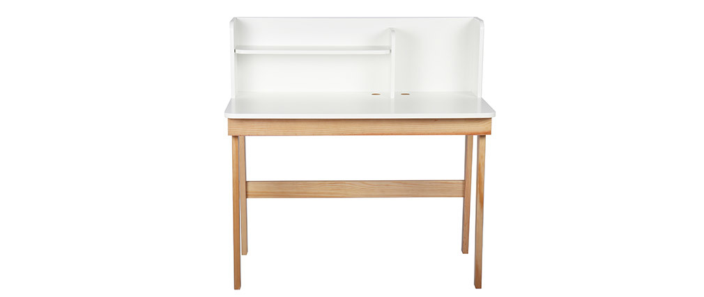 Wooden and white kids desk 105cm KUNG
