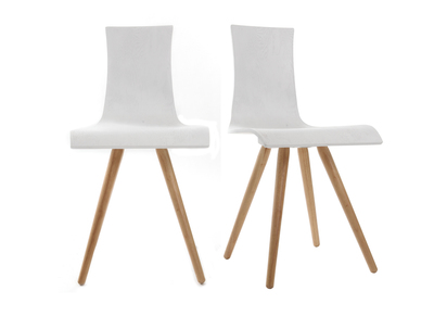 Wooden Chairs White Seating (set of 2) BALTIK