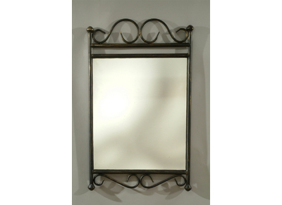 Wrought Iron Style Steel Mirror FLORENCE