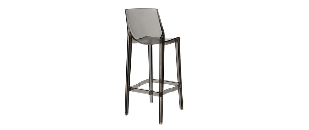 YLAK Smoked Grey Modern Bar Stool (set of 4)