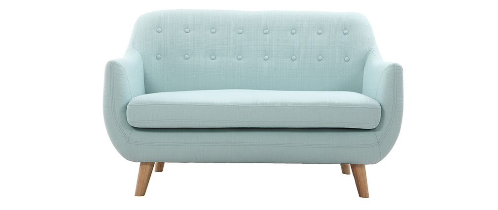 YNOK 2 seater designer sofa with removable peppermint cover.