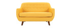 YNOK 2 seater designer sofa with removable yellow cover.