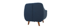 YNOK designer armchair with removable blue cover