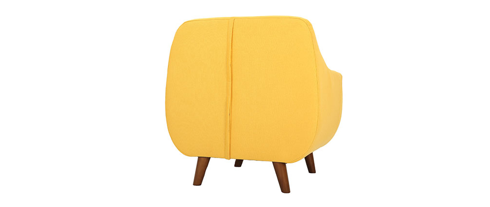 YNOK designer armchair with removable yellow cover