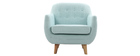 YNOK Scandinavian peppermint armchair with removable cover