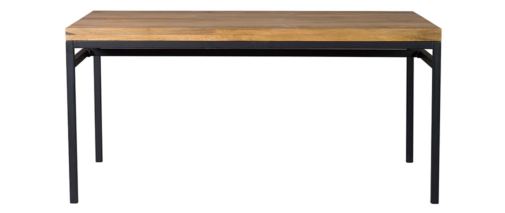 YPSTER 160x90cm industrial dining table in mango wood and metal