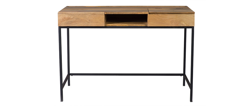 YPSTER industrial designer mango wood desk