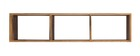 YPSTER industrial mango wood wall shelves