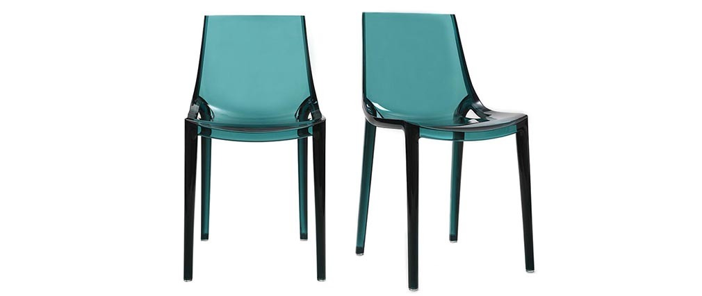 YZEL Sea Green Modern Chair (set of 2)