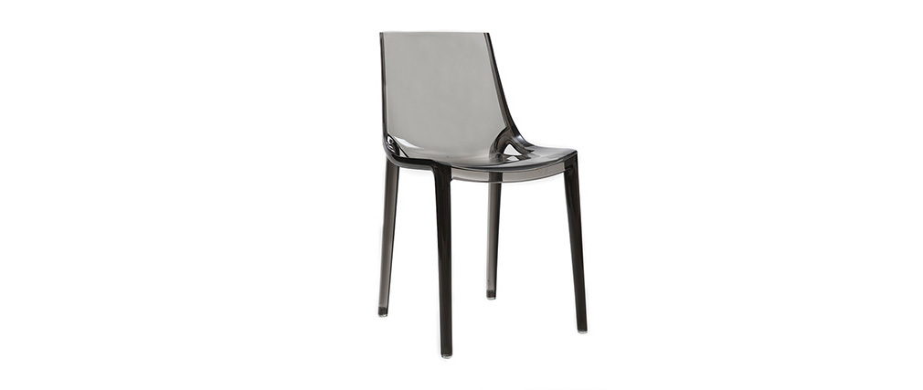 YZEL Smoked Grey Modern Chair (set of 2)