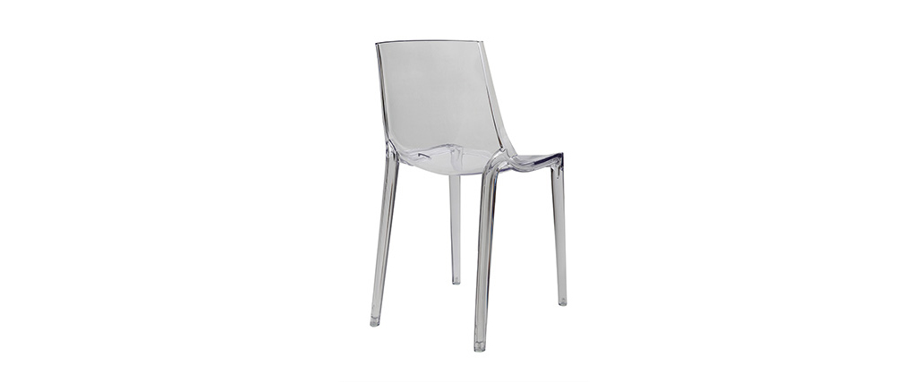 YZEL Transparent Modern Chair (set of 2)
