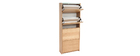 ZAPPA Scandinavian 4-compartment oak shoe storage unit